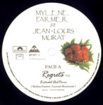Mylène Farmer et Jean-Louis Murat Regrets Maxi 45 tours France Pochette recto