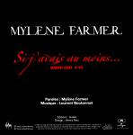 Mylène Farmer Si j'avais au moins... CD Promo France