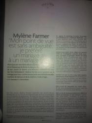 Mylène Farmer Tetu Janvier 2013