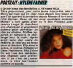 Mylène Farmer Presse Jacinte N°114 Mars 1985
