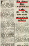 Mylène Farmer France Soir 16 septembre 1986