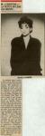 Mylène Farmer Presse La Dépêche du Midi - 29 juin 1986
