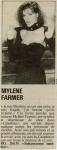 Mylène Farmer Le quotidien de Paris 08 octobre 1986