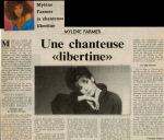 Mylène Farmer Le Républicain Lorrain 14 Septembre 1986