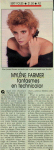 Mylène Farmer Télé Star 10 novembre 1986