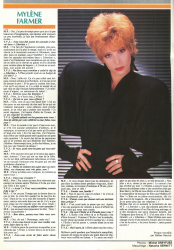 Mylène Farmer TV Video Jaquettes Juin 1986