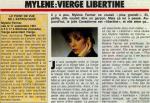 Mylène Farmer Vous et votre avenir Septembre 1986