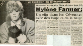 Mylène Farmer Presse - France Soir - 3 avril 1987