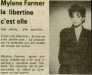 Mylène Farmer Presse - Loire Matin - 23 mars 1987