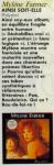 Mylène Farmer Presse 20 ans Juin 1988
