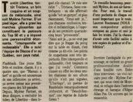 Mylène Farmer Presse Le Provencal 20 août 1988