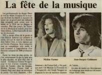 Mylène Farmer Presse Le Républicain Lorrain 19 novembre 1988
