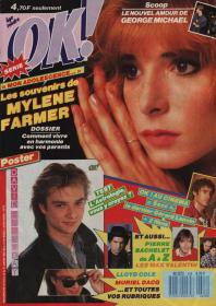 Mylène Farmer Presse OK 25 janvier 1988