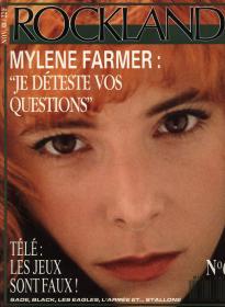 Mylène Farmer Presse Rockland Novembre 1988