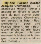 Mylène Farmer Presse Ouest France 16 juin 1989