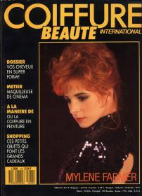Mylène Farmer Presse Coiffure Beauté Inernational Novembre Décembre 1989