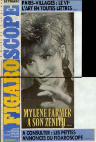 Mylène Farmer Presse Figaroscope 17 mai 1989