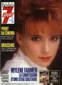Mylène Farmer Presse Télé 7 jours 02 décembre 1989