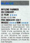 Mylène Farmermylene.netPresse 1991 Vidéo 7 Janvier 1991