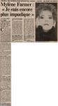 Mylène Farmer Presse - France Soir - 13 avril 1991