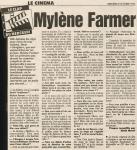 Mylène Farmer Presse Le Parisien 05 octobre 1994