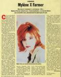Mylène Farmer Presse L'Humanité 16 novembre 1995