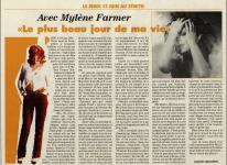Mylène Farmer Presse Temps Libre 12 juin 1996