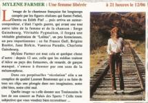 Mylène Farmer Presse Toulouse by night magazine 04 juin 1996