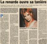 Mylène Farmer Presse Var Matin 24 mai 1996