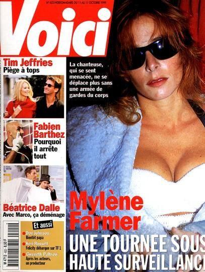 Mylène Farmer - Presse - Voici - 11 octobre 1999