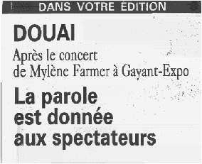 Presse Mylène Farmer - La Voix du Nord - xx marsq 2000