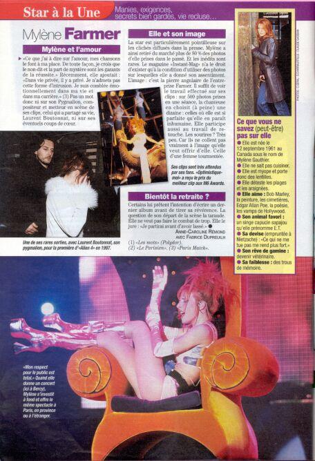 Mylène Farmer - Presse - Télé Star - 14 janvier 2002
