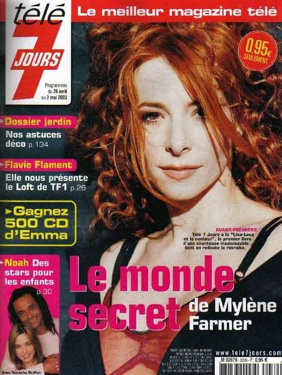 Mylène Farmer Presse - Télé 7 Jours - 21 avril 2003