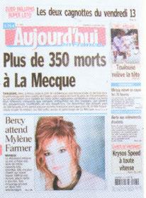 Mylène Farmer Aujourd'hui en France 13 Janvier 2006