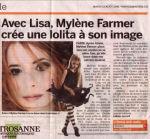 Mylène Farmer 20 Minutes Suisse 12 août 2008