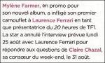 Mylène Farmer 20 Minutes 31 août 2008