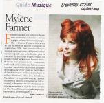 Mylène Farmer Presse L'Express 04 septembre 2008