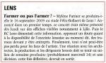 Mylène Farmer La Voix du Nord 08 mai 2008