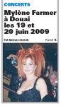Mylène Farmer La Voix du Nord 12 Juin 2008