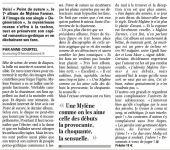 Mylène Farmer Presse La Voix du Nord 28 août 2008