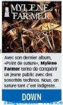 Mylène Farmer Presse Le Matin Bleu 26 août 2008