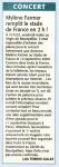 Mylène Farmer Le Midi Libre 29 mars 2008