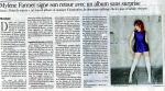 Mylène Farmer Presse Le Monde 27 août 2008