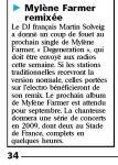 Mylène Farmer Le Parisien 17 juin 2008