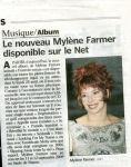 Mylène Farmer Le Parisien 20 août 2008