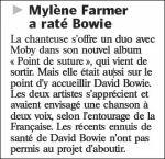 Mylène Farmer Le Parisien 30 août 2008