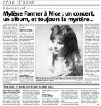 Mylène Farmer Nice Matin 23 mai 2008