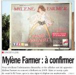 Mylène Farmer Nord Eclair 06 mai 2008