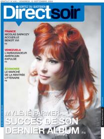 Mylène Farmer Presse Direct Soir 12 septembre 2008
