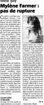 Mylène Farmer Presse Var Matin 05 septembre 2008